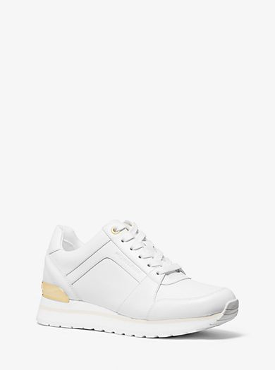 designer trainers, Leather trainers