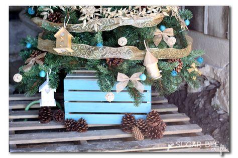 Home tweet home themed Christmas tree ideas decorating ideas
