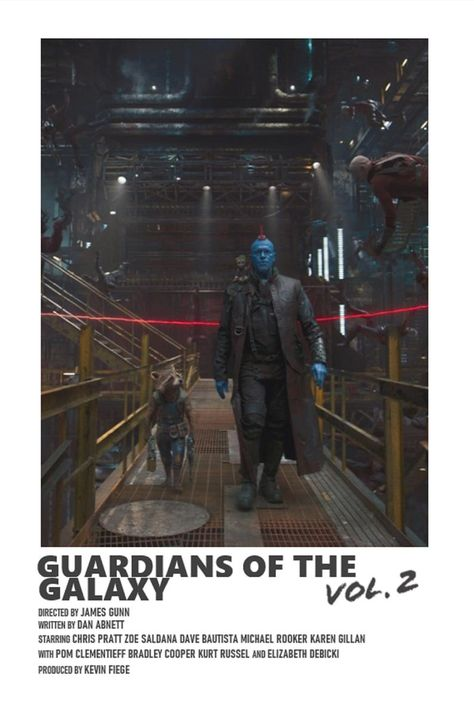 Guardians Of The Galaxy Vol. 2 minimal A6 movie poster