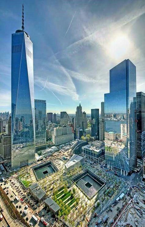 One World Trade Center and 9/11 Memorial - beautiful memorial