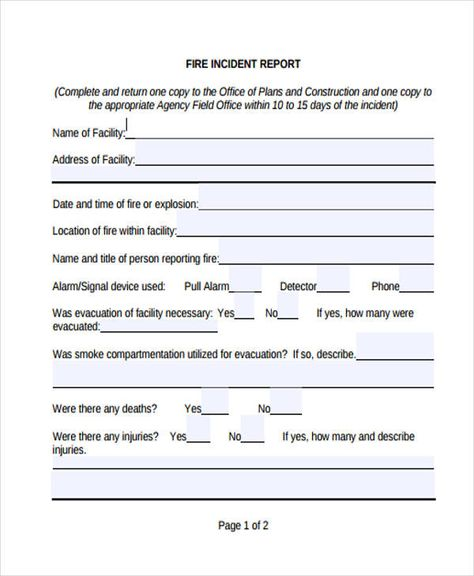 incident report form example fire immix zypop Home Design Idea - free incident report form