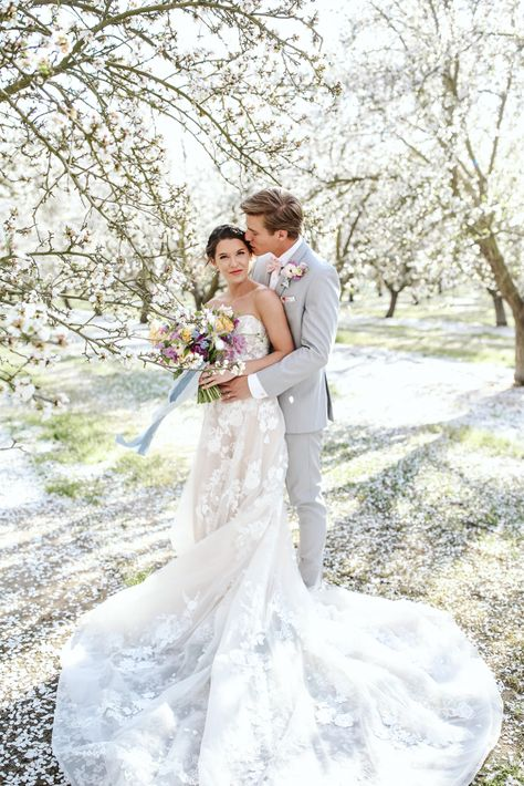 Whimsical Almond Orchard Blossom Wedding Inspiration – Playful Soul Photography 40  Blossoming orchards are the perfect backdrop for a nature-filled outdoor celebration.  #bridalmusings #bmloves #wedding #weddinginspo #weddinginspiration #blossom #orchard #outdoorwedding