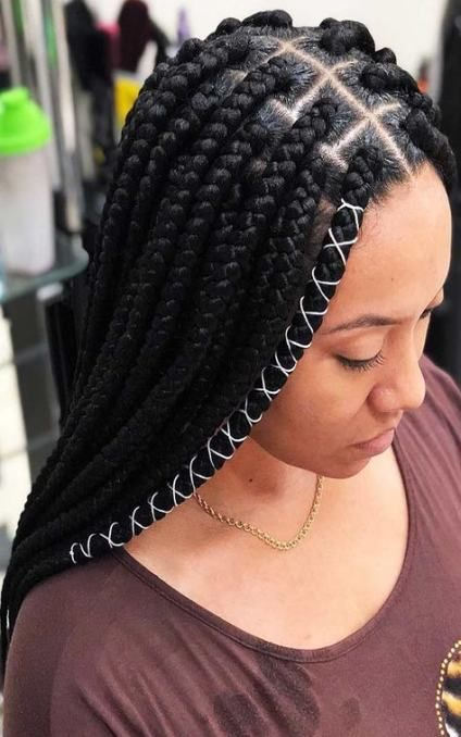 Best Braids With Weave Extensions Protective Styles Ideas African Braids Hairstyles Hair Styles Box Braids Hairstyles