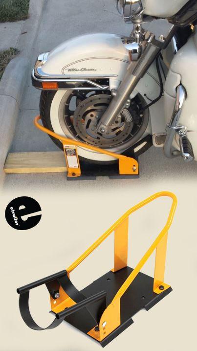 Maxxtow Adjustable Wheel Chock With Pivoting Bracket 5 1 2 Wide