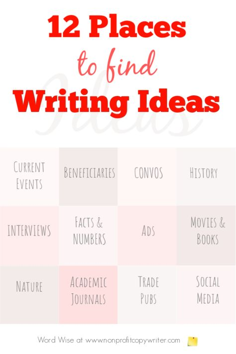 12 Places to Look for Story Writing Ideas