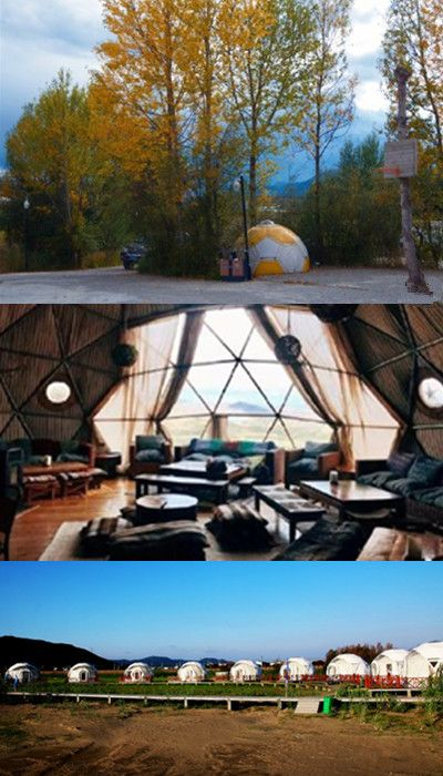 Eco Residential Design Geodesic Dome Greenhouse Steel Structure Dome In Lodge Dome Tent Geodesic Dome Tent Glamping