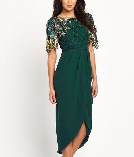 Virgos Lounge Majesty Bridesmaid Embellished Wedding Maxi Party Dress 6 to 18