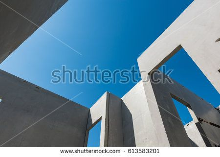 Construction Site With Concrete Precast Wall Void And Solid Construction Site Construction Concrete
