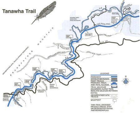 Tanawha Trail Map | Blue ridge parkway, Blue ridge, Trail