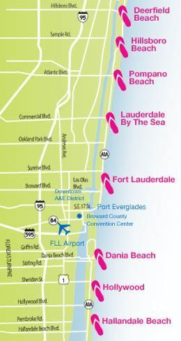 Greater Fort Lauderdale Beach Map | Fort Lauderdale Living in 2019 on
