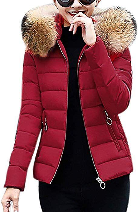 35a438f6b3 beautyjourney Giacca Donna Elegante Corta Piumino Invernale ...