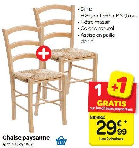 Chaise Paysanne Produit Maison Carrefour Chaise Paysan Maison