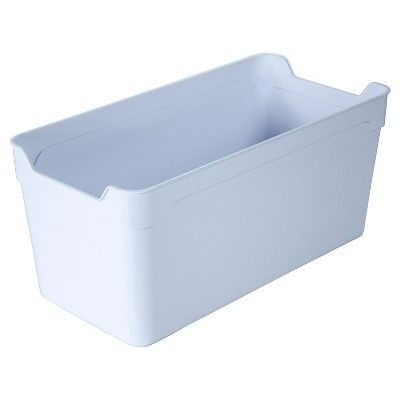Plastic Quarter Bin White Itso Target Laundry Room Organization Plastic Container Storage Storage