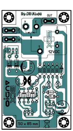 Pcb Layout Speaker Protector Electronics Circuit Electronic Circuit Projects Audio Amplifier