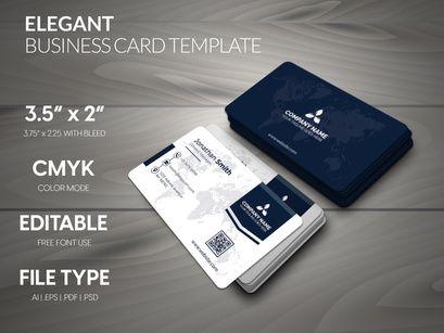 Elegant Corporate Business Card Corporate Business Card Elegant Business Cards Website Illustration