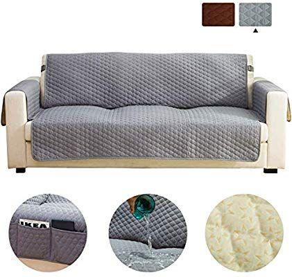 Amazon Com Haowaner Funda De Sofa 100 Impermeable Acolchada Antideslizante Funda De Sofa Para Perros Prote In 2020 Cushions On Sofa Quilted Sofa Sofa Protector