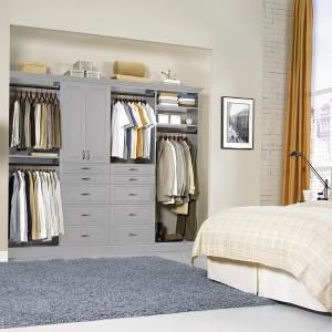 The Home Depot Installed Reach In Closet Organization System Hdinstlros The Home Depot Closet Organizing Systems Wood Closet Systems Closet Systems Design
