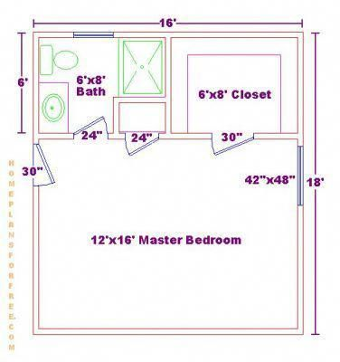 Master Bathroom Floor Plans Master Bedroom Floor Plan With Ideas For A Small 6x8 Bath An Master Suite Floor Plan Master Bedroom Plans Master Bedroom Addition
