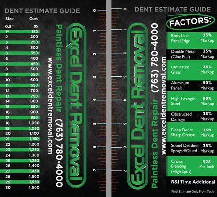 Paintless Dent Removal Cost >> Estimate Guide Excel Dent Removal Pdr Paintless Dent