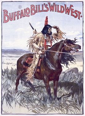 VintageArte - Buffalo Bill's Wild West Indian Poster : Posters and Framed Art Prints Available