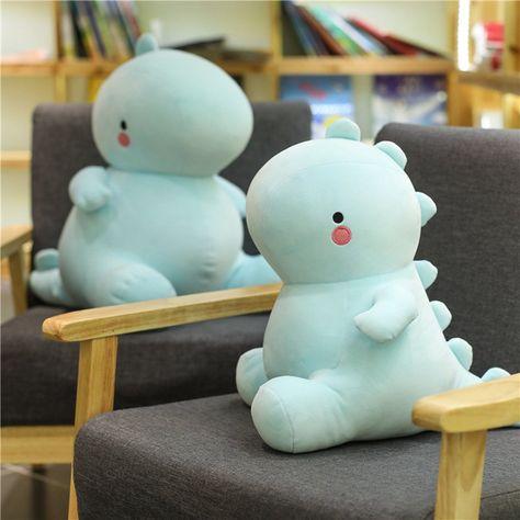 Kawaii Dinosaur Plush Doll blue-30CM