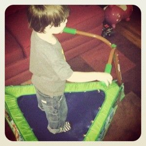 Boys and girls love it. ;) See this unique #iBounceKidsTrampoline review!