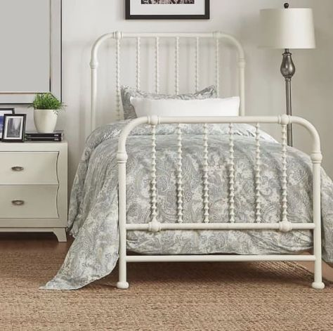 """Promising Review: """"I loved it so much I even purchased an additional one for my guest bedroom. Well made, sturdy and now comes in multiple colors! Could also be great for a kids room in the white frame."""" —Kristi Shipping: Free! Get from Wayfair for $384.16+ or Birch Lane for $360.82+ (available in four sizes and four colors)."""