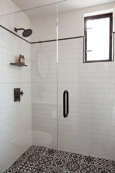 Modern Home With Bath Room One Piece Toilet Wall Lighting Undermount Sink Enclosed Shower Cer White Tile Shower Modern Shower Tile Porcelain Tile Bathroom
