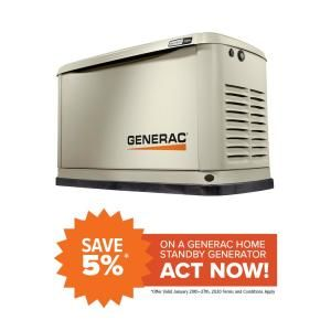 Generac Generators Outdoor Power Equipment The Home Depot In 2020 Standby Generators Generation Home Depot