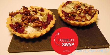 Rode uientaartje met roquefort en walnoten via @JudesDiner