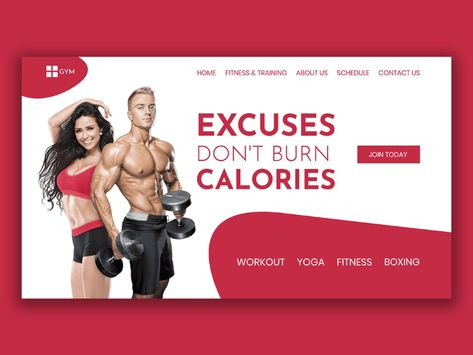 Gym Webpage UI Design
