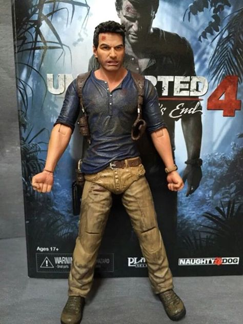MINIFIGURE UNCHARTED 4 NATHAN DRAKE FIGURE TOYS CUSTUM PS4 3 COLLECTOR EDITION 5