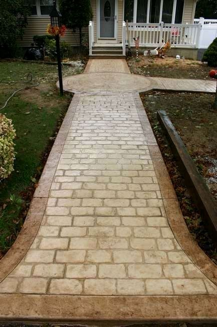 Stamped Concrete Driveway Ideas They Are A Huge Part Of The Room S Design One Does More Tha Stamped Concrete Stamped Concrete Patio Stamped Concrete Walkway