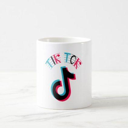 Musically Tik Tok Coffee Mug Kitchen Gifts Diy Ideas Decor Special Unique Individual Customized Original Barbie Doll Tik Tok Cute Friendship Bracelets