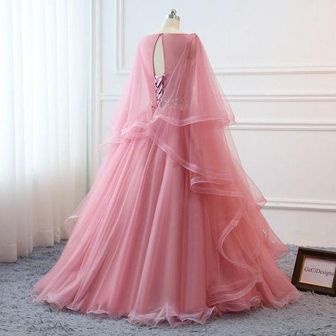 96f5c4beb89 Custom Women Blush Pink Prom Dress Ball Gown Long Quinceanera Dress ...