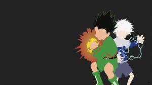 Gon Killua Hunter X Hunter Minimalist Wallpaper By Greenmapple17 Hunter X Hunter Minimalist Wallpaper Hunter Anime