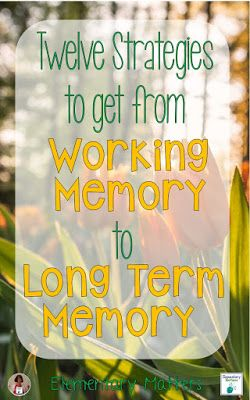 620 best brain research images on pinterest learning twelve strategies to get from working memory to long term memory fandeluxe Ebook collections