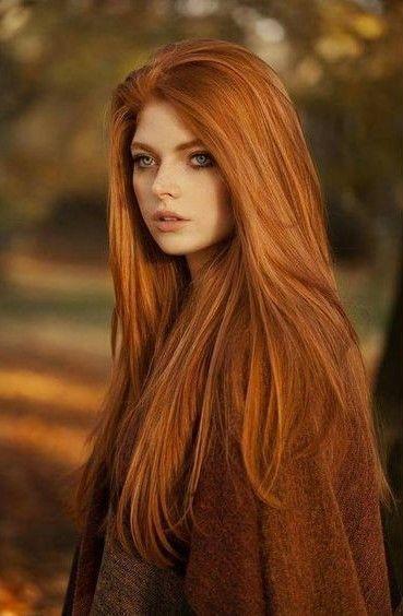Redhead Beauty Lange Rote Haare Haarfarben Schone Rote Haare