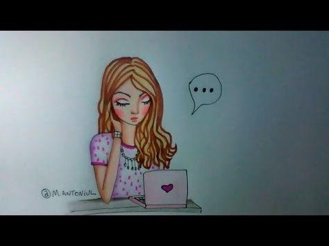 Como Colorir Desenho Garota Na Agua Desenho Autoral Youtube