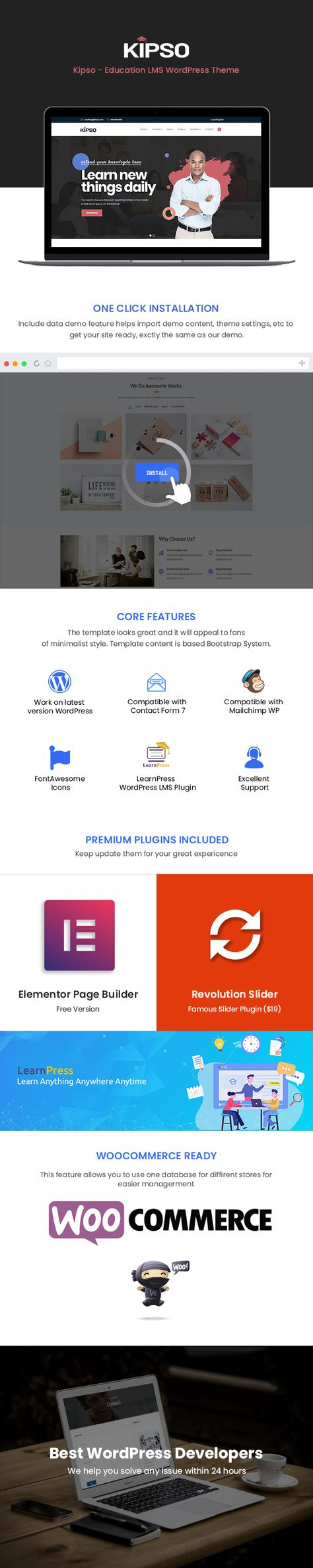 Kipso - Education LMS WordPress Theme
