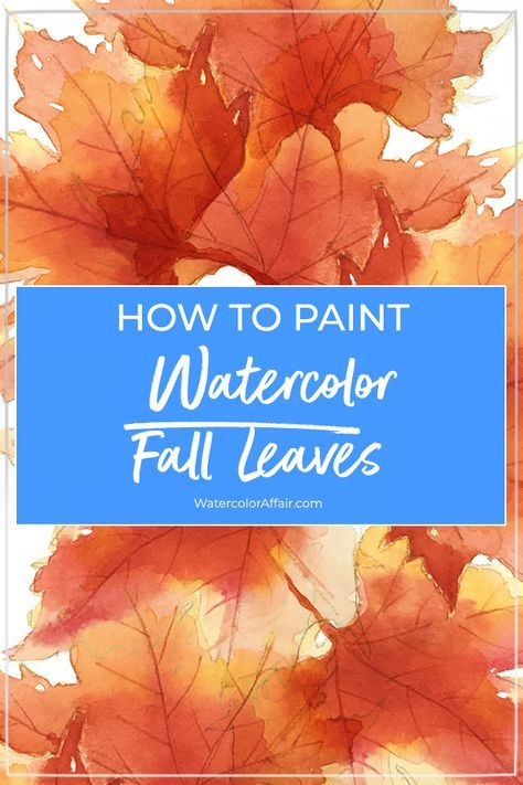 Learn how to paint watercolor fall leaves with this step by step tutorial using simple and effective watercolor techniques. Learn how to paint watercolor fall leaves with this step by step tutorial using simple and effective watercolor techniques. Watercolor Paintings For Beginners, Watercolor Beginner, Watercolor Projects, Watercolor Tips, Watercolor Leaves, Watercolour Tutorials, Watercolor Techniques, Watercolor Landscape, Watercolor Illustration Tutorial