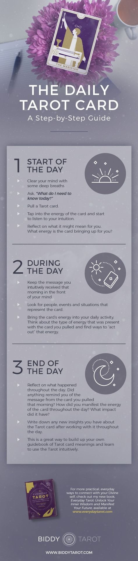 One of my favourite ways to tap into my intuition - and learn to trust what comes up - is an exercise called the Daily Tarot Card, where you do just what it sounds like: pull one card every day for yourself and see what kind of guidance you get from it. Try this ritual from Everyday Tarot or learn more at biddytarot.com