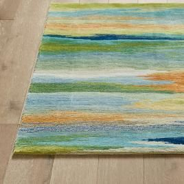 New Wave Area Rug In 2020 Area Rugs Watercolor Rug Colorful