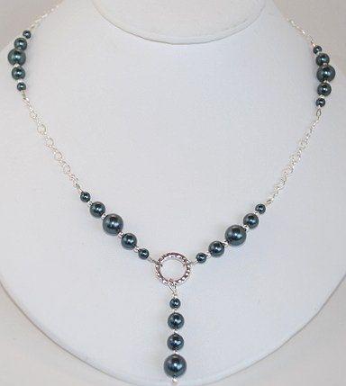 Stunning Necklace in Swarovski Tahitian Pearls - $25 ...