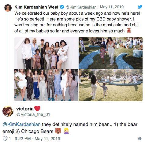 The Theory Going Around Is That Kim Kardashian And Kanye West Named Their Baby Boy Teddy Or Bear Because Kim Has Bee Teddy Bear Emoji Instagram Instagram Story