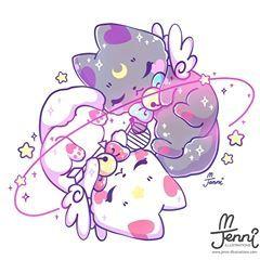 Cosmic Kitty Twins Original Characters