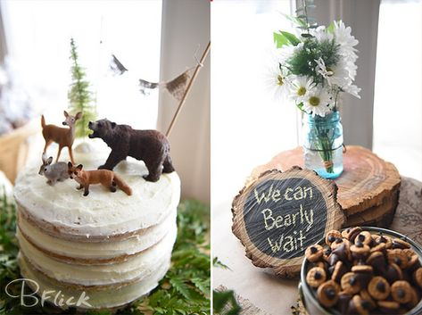 Cake from  Oh dear baby's almost here baby shower, woodland animal theme, with bears, fox's, deer, bunnies
