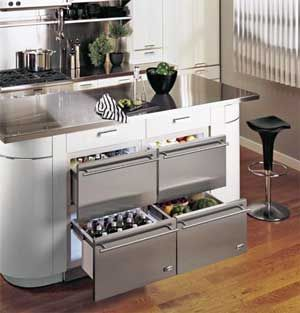 Undercounter Refrigerated Drawer For Beer 36 With Professional