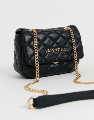 Valentino By Mario Valentino Ocarina Black Quilted Cross Body Bag With Chain Strap Asos In 2020 Black Shoulder Bag Cross Body Crossbody Bag Valentino Bags