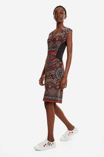 Vestido con print africano Dunia | Moda para mujer, Moda